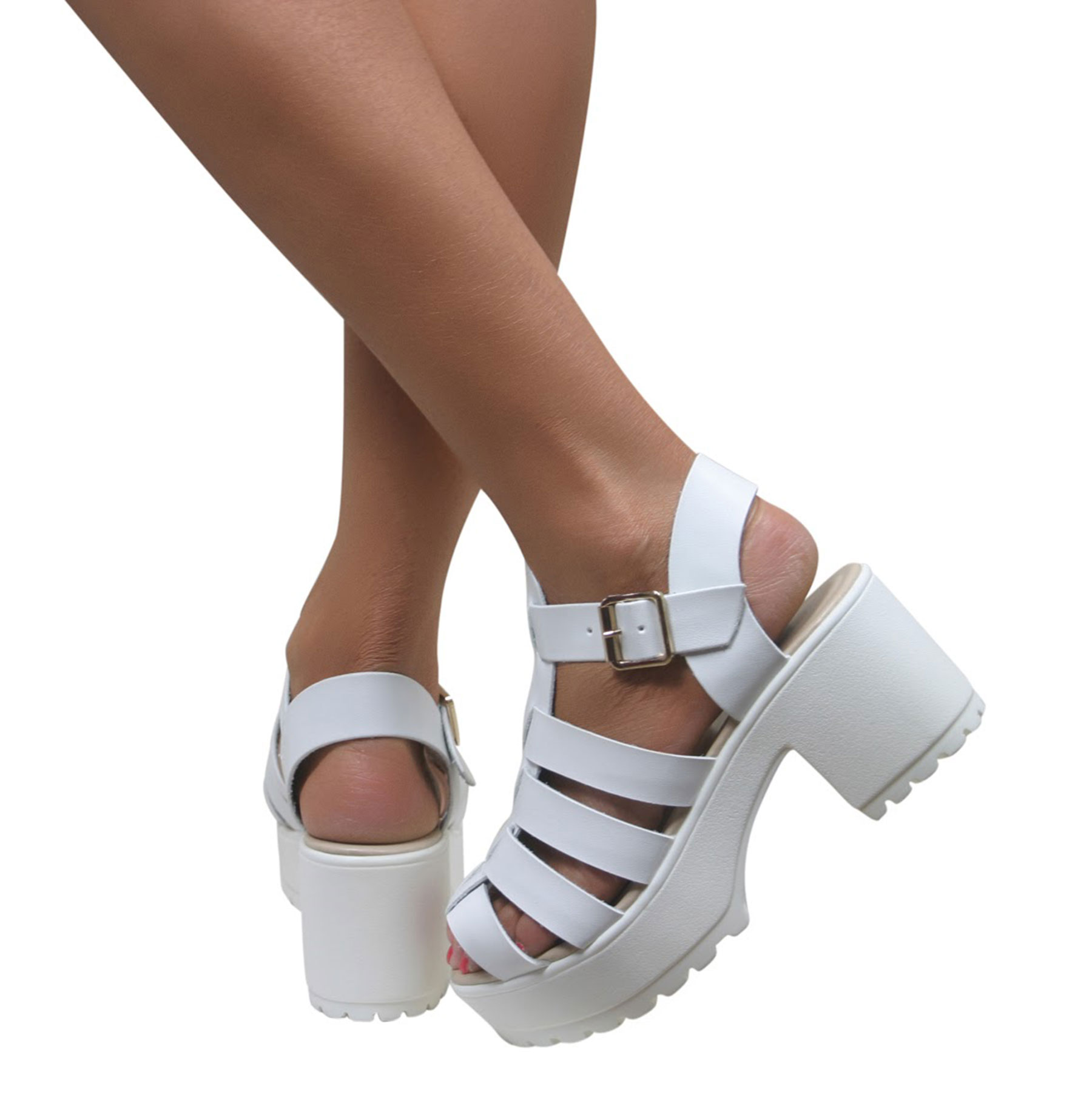 White Gladiator Sandals Heels | Fs Heel
