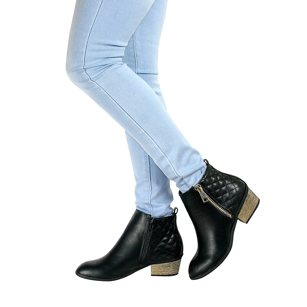 womens cowboy ankle boots cuban block low mid block