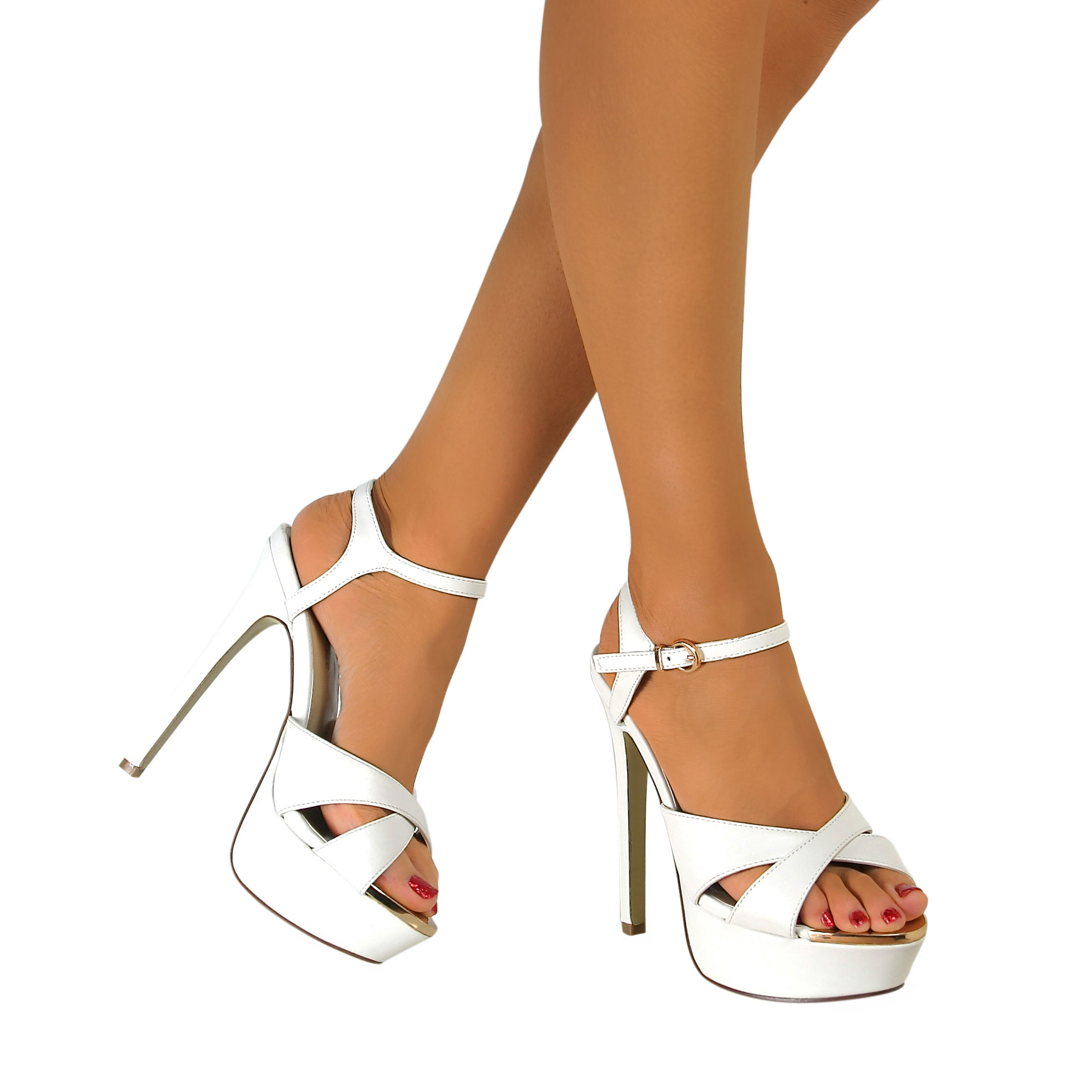 Womens-Platform-High-Heel-Ankle-Strap-Peep-Toe-Shoes-Party-Sandals-UK-Size