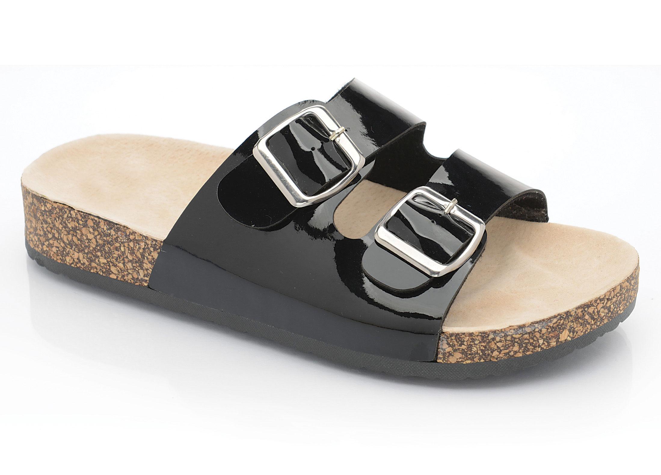 Sandals shoes summer - Ladies Womens Flat Sandals Summer Comfort Cork Sole
