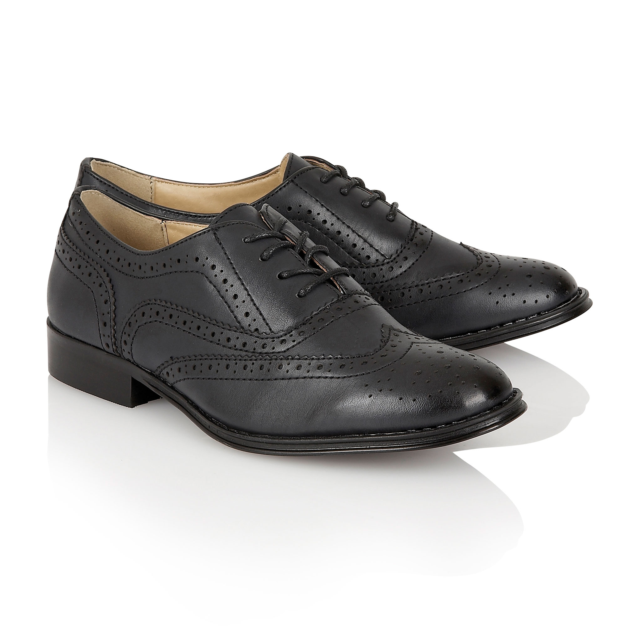 Womens Leather Brogue Shoes Uk