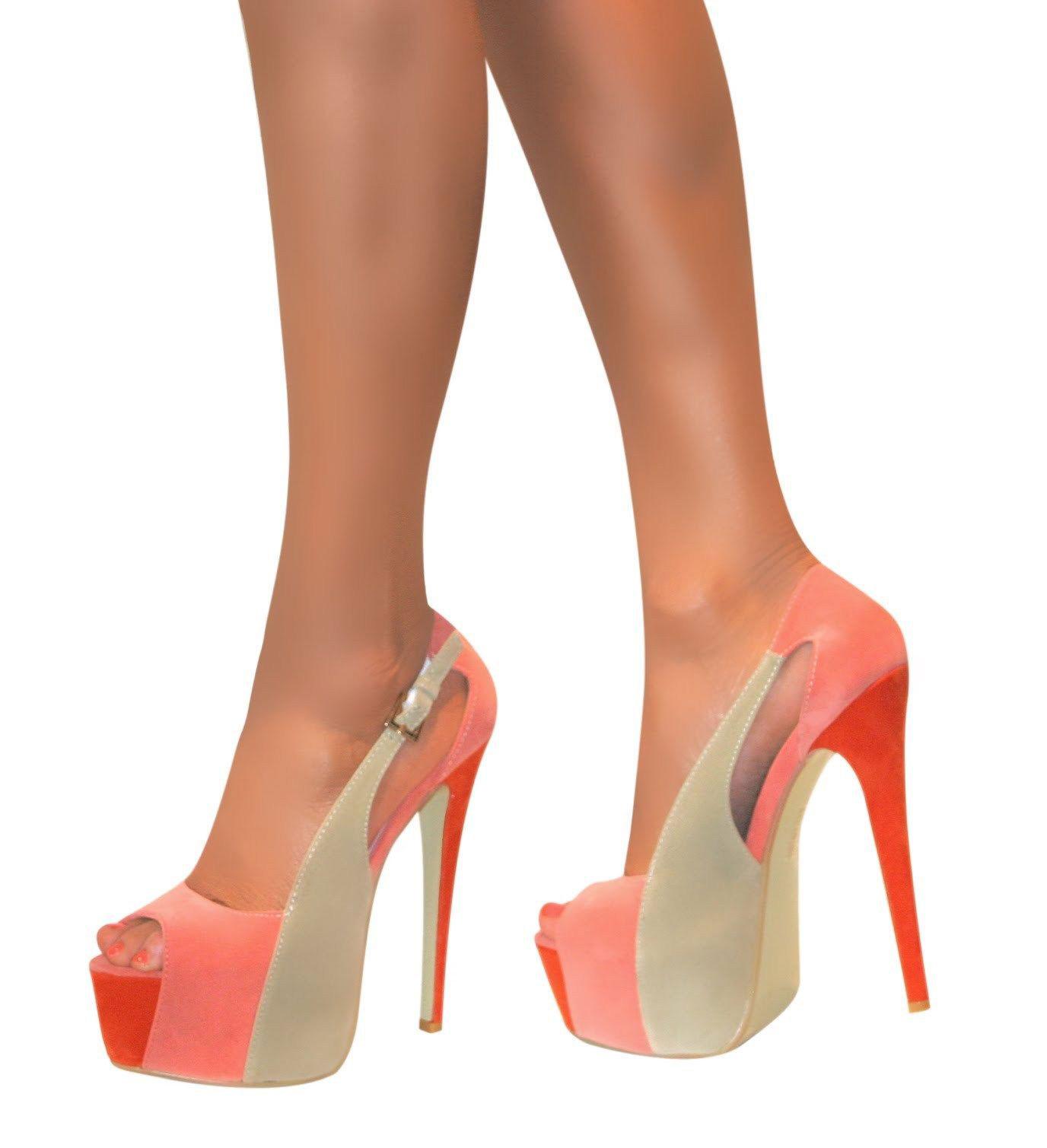 Da Donna con Cinturini Plateau Punta Aperta Stiletto Sandalo Scarpe Donna Tacco Alto Misura 38