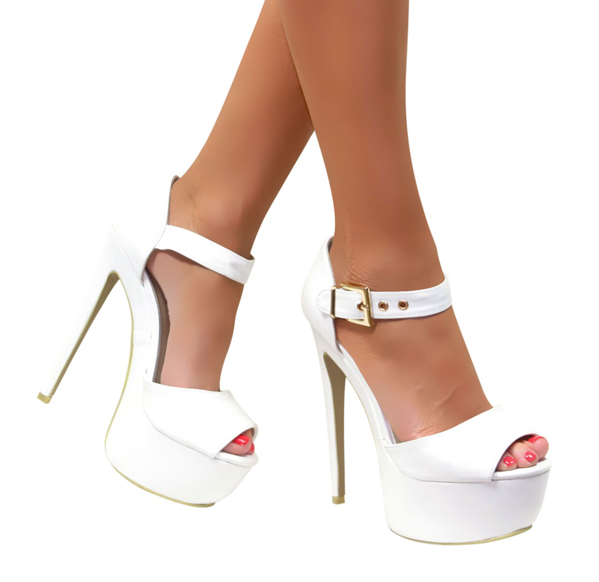 womens ladies platform stiletto strappy party high heel peep toe shoes size ebay. Black Bedroom Furniture Sets. Home Design Ideas