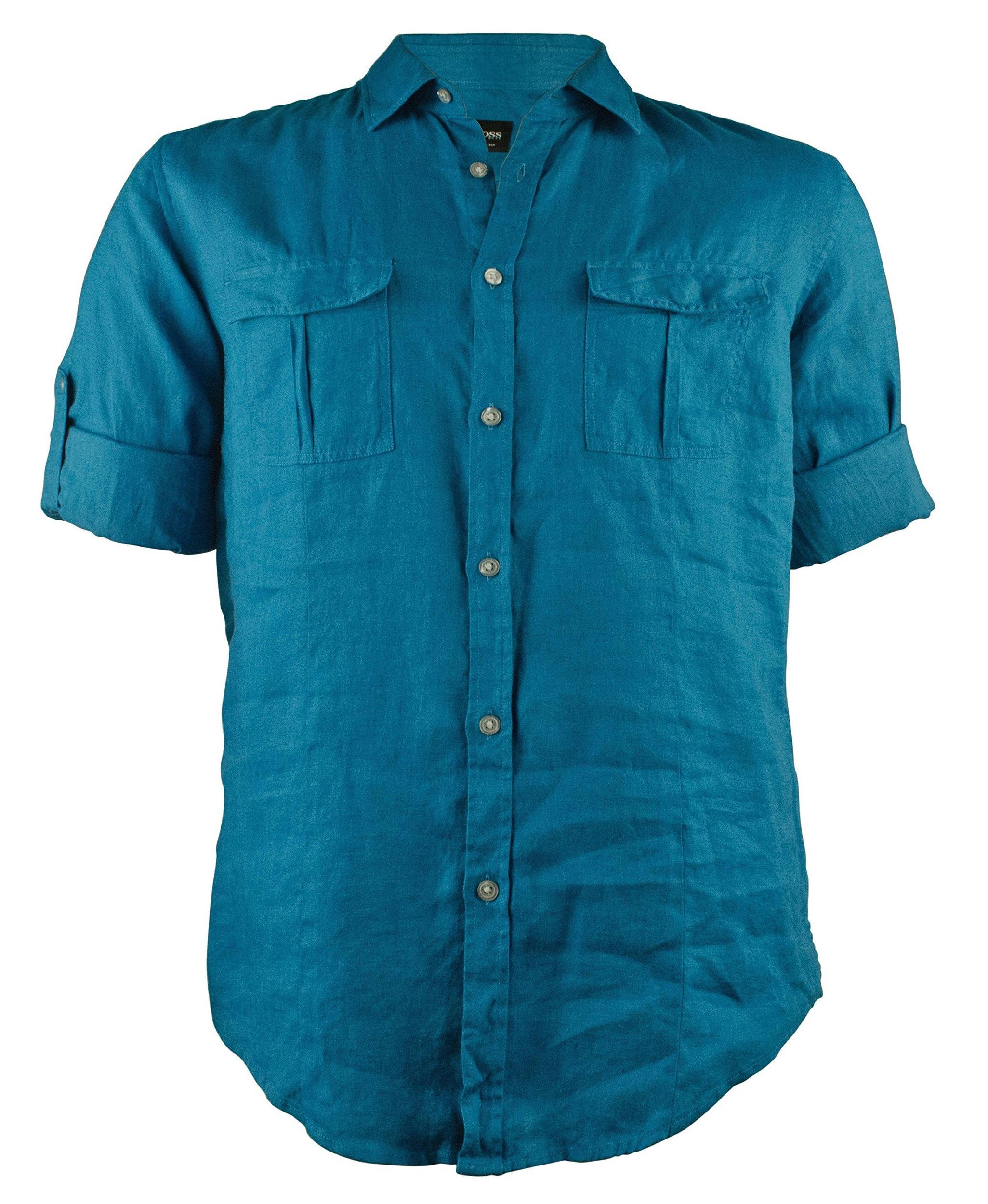 boss hugo boss omer men 39 s long sleeve slim fit shirt ebay. Black Bedroom Furniture Sets. Home Design Ideas
