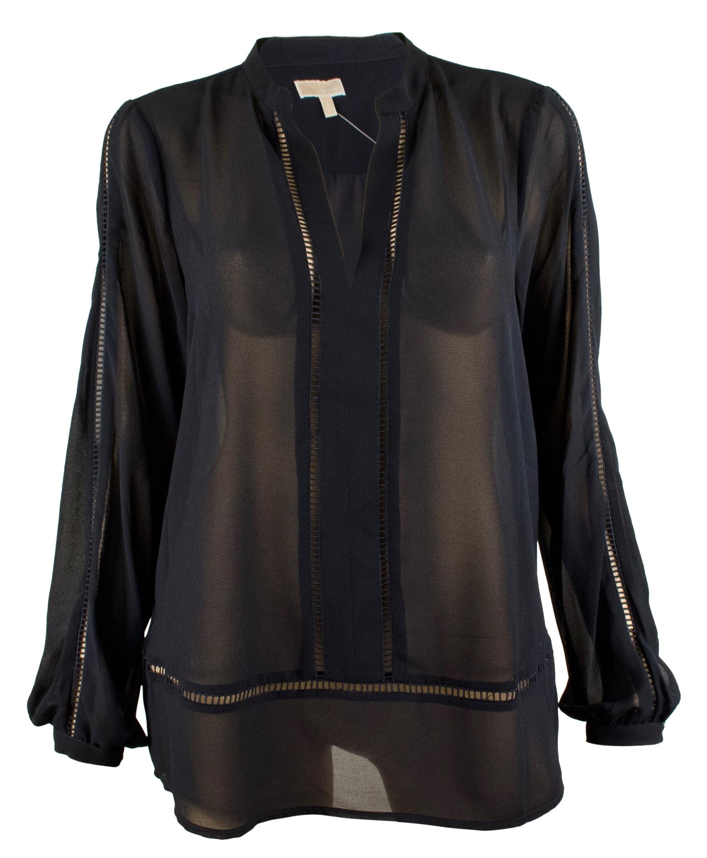 michael kors women 39 s laser cut trim blouse top ebay. Black Bedroom Furniture Sets. Home Design Ideas