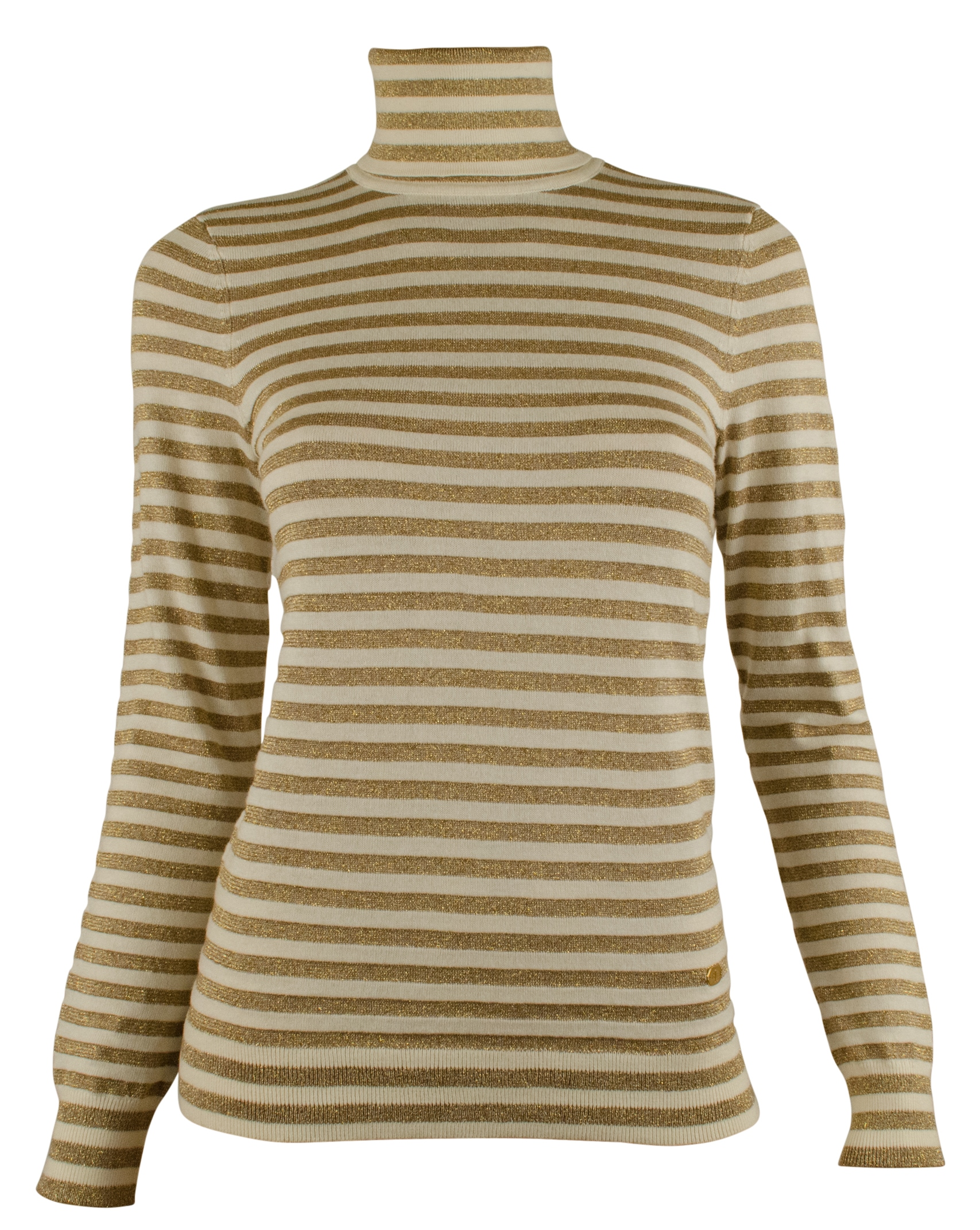 Ralph Lauren Women's Plus Size Metallic-Striped Turtleneck ...