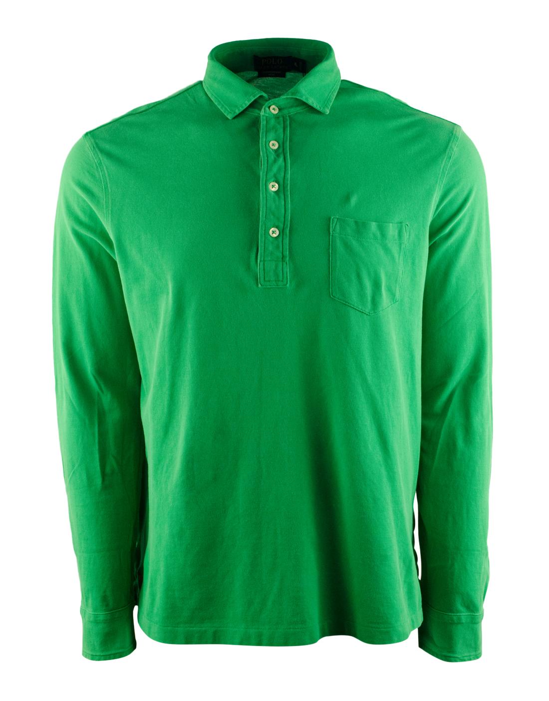 Polo ralph lauren men 39 s featherweight mesh long sleeve for Long sleeve pocket shirts