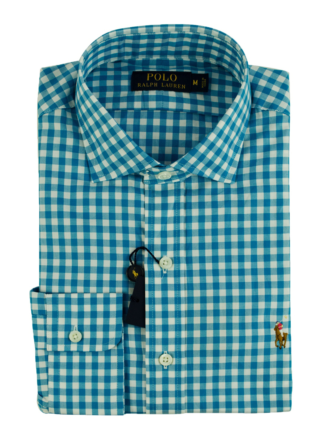 Polo Ralph Lauren Men's Gingham Long Sleeve Multicolored Pony Oxford Shirt