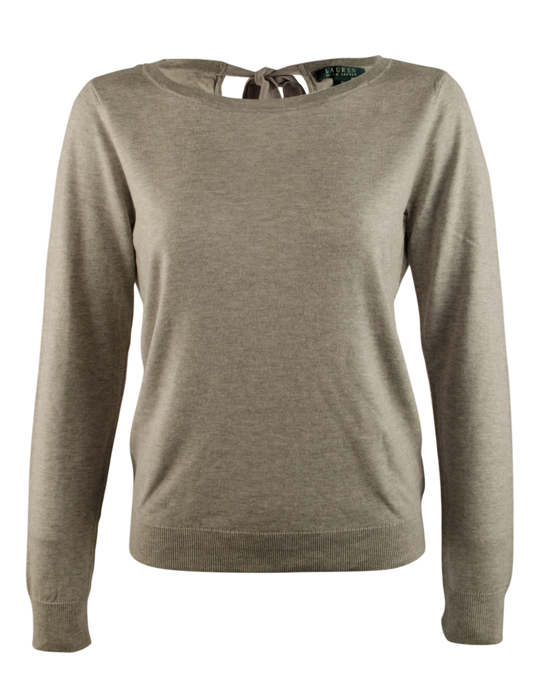 lauren ralph lauren women s keyhole tie back sweater ebay