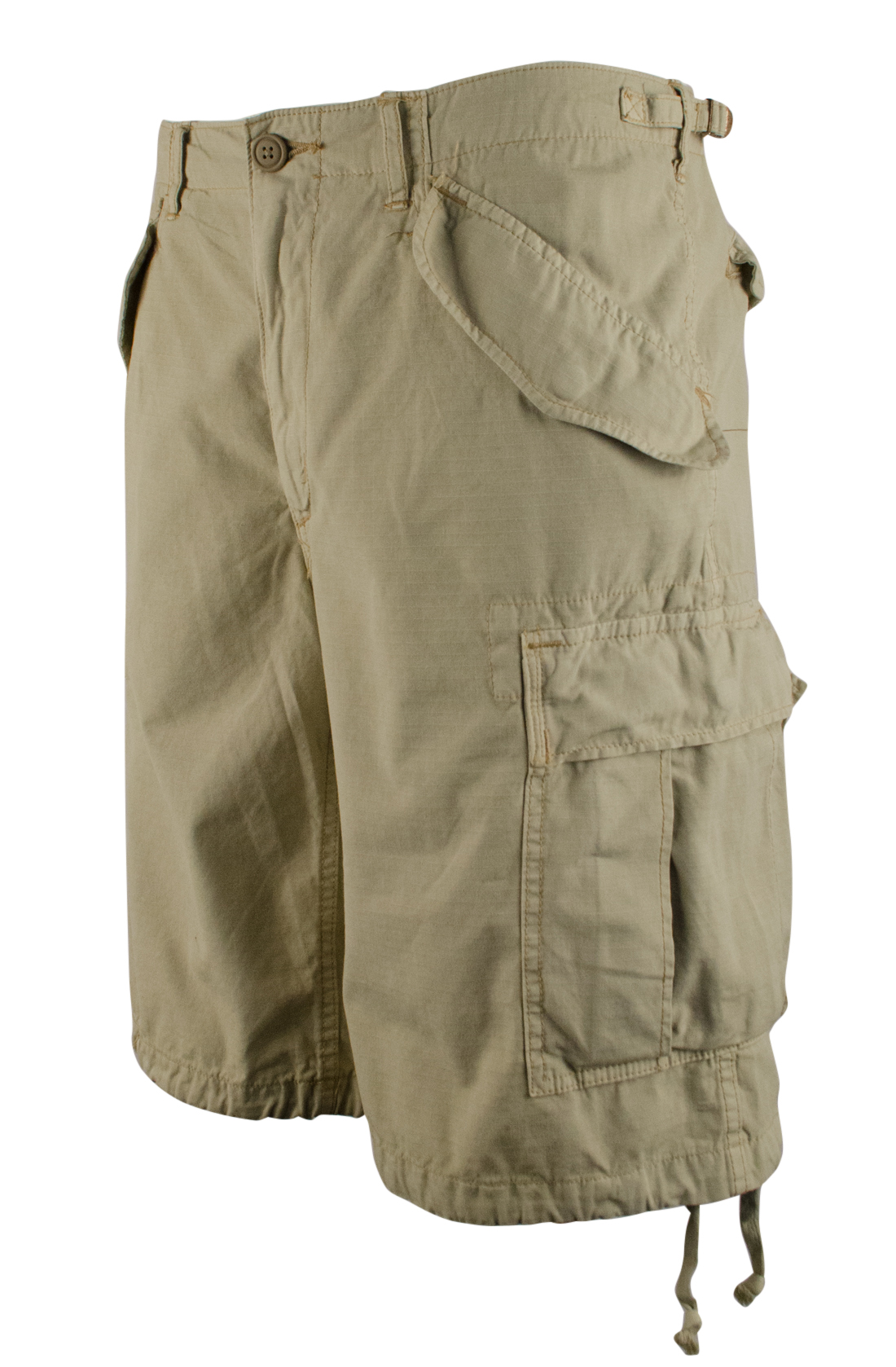 Men's big and tall cargo shorts come in a variety of styles, colors, and lengths. The key feature that separates cargo shorts is the pockets. There are typically six pockets, with two in the front, two on the outside of the legs, and two in back to help you keep nails, tools, or your cell phone handy.