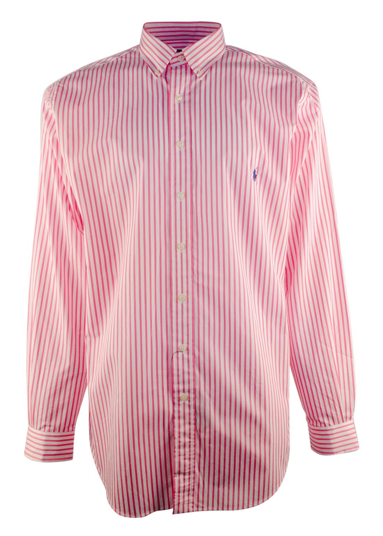 Ralph lauren men 39 s big and tall striped button down poplin for Mens tall button down shirts