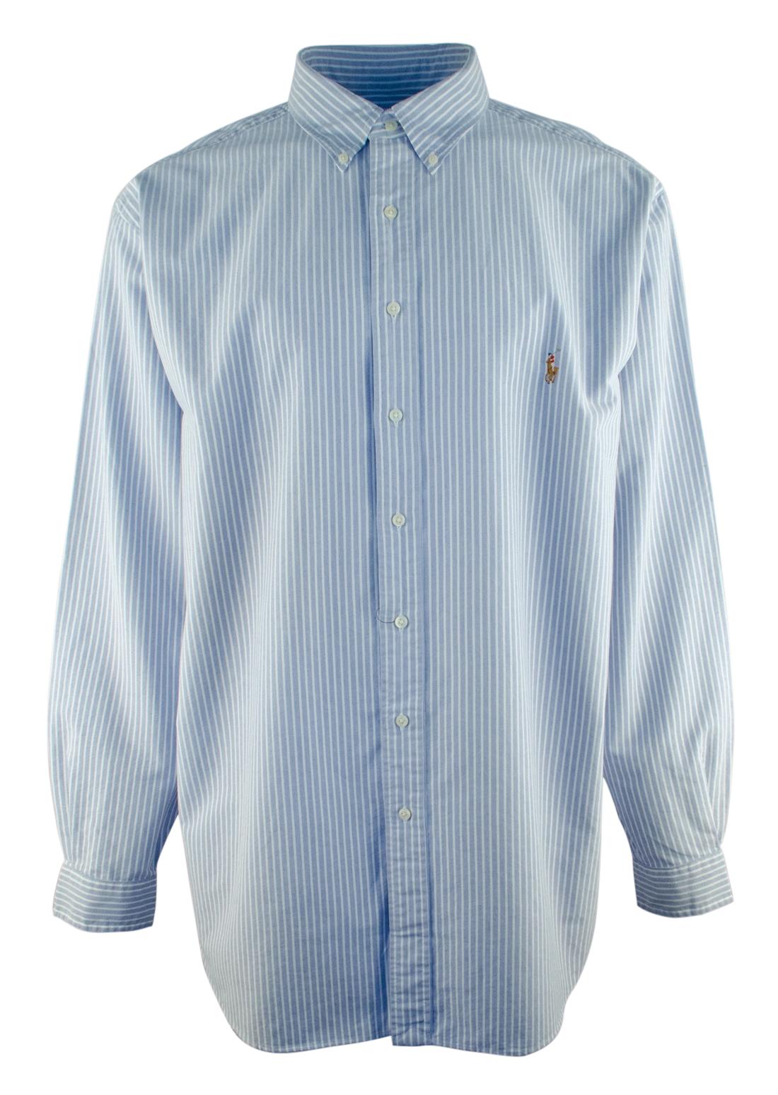 ralph lauren men 39 s big and tall long sleeve striped oxford