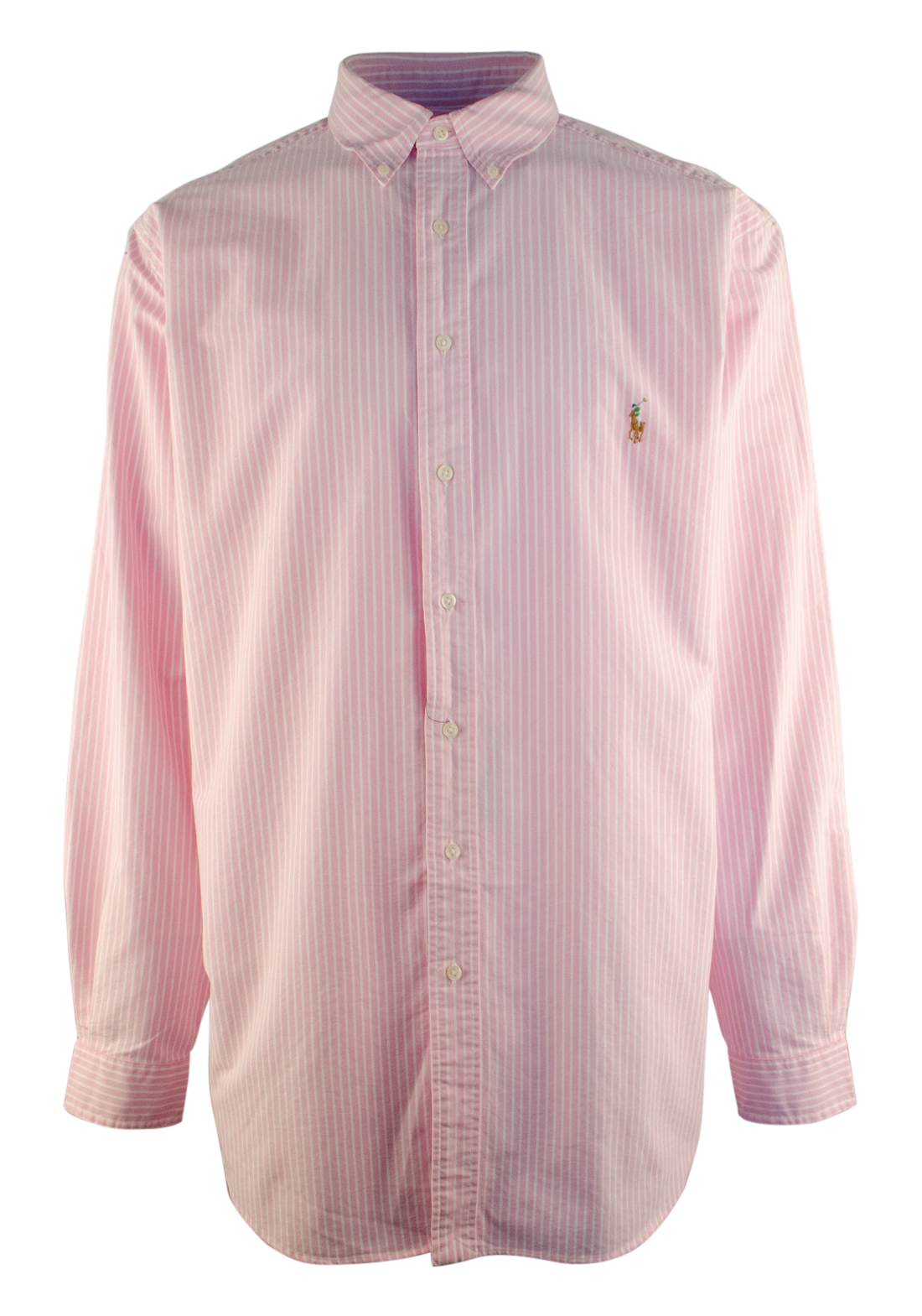 Ralph lauren men 39 s big and tall long sleeve striped oxford for Big and tall long sleeve shirts