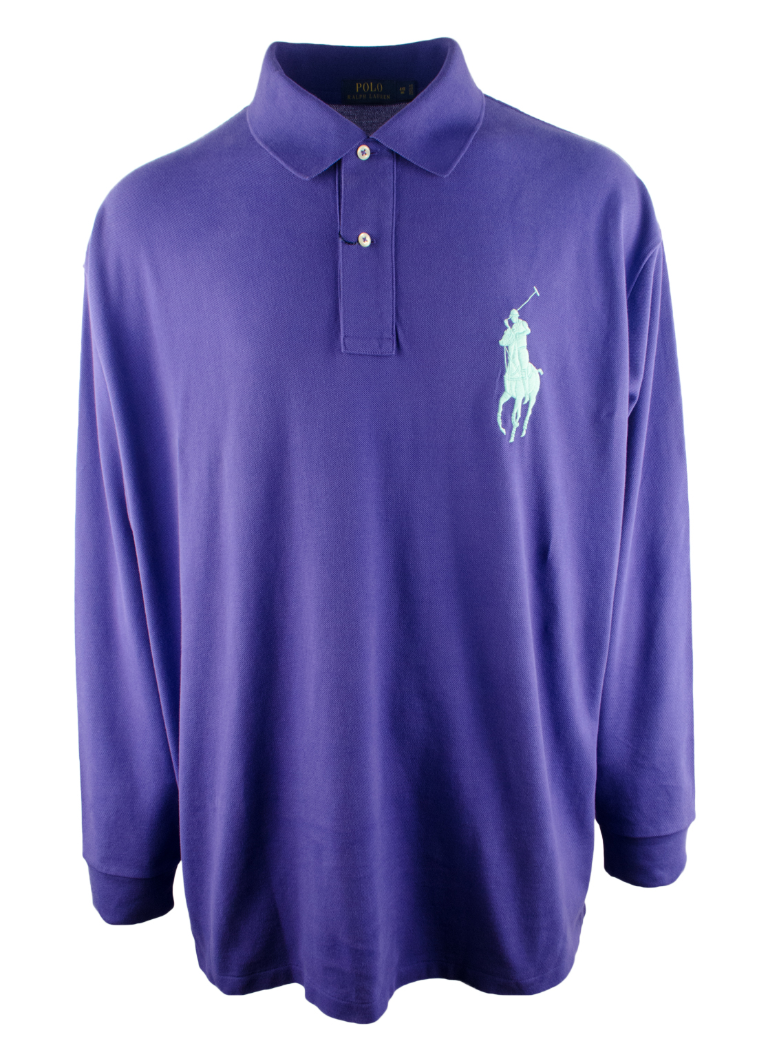 Polo ralph lauren men 39 s big and tall classic fit long for Xlt long sleeve polo shirts