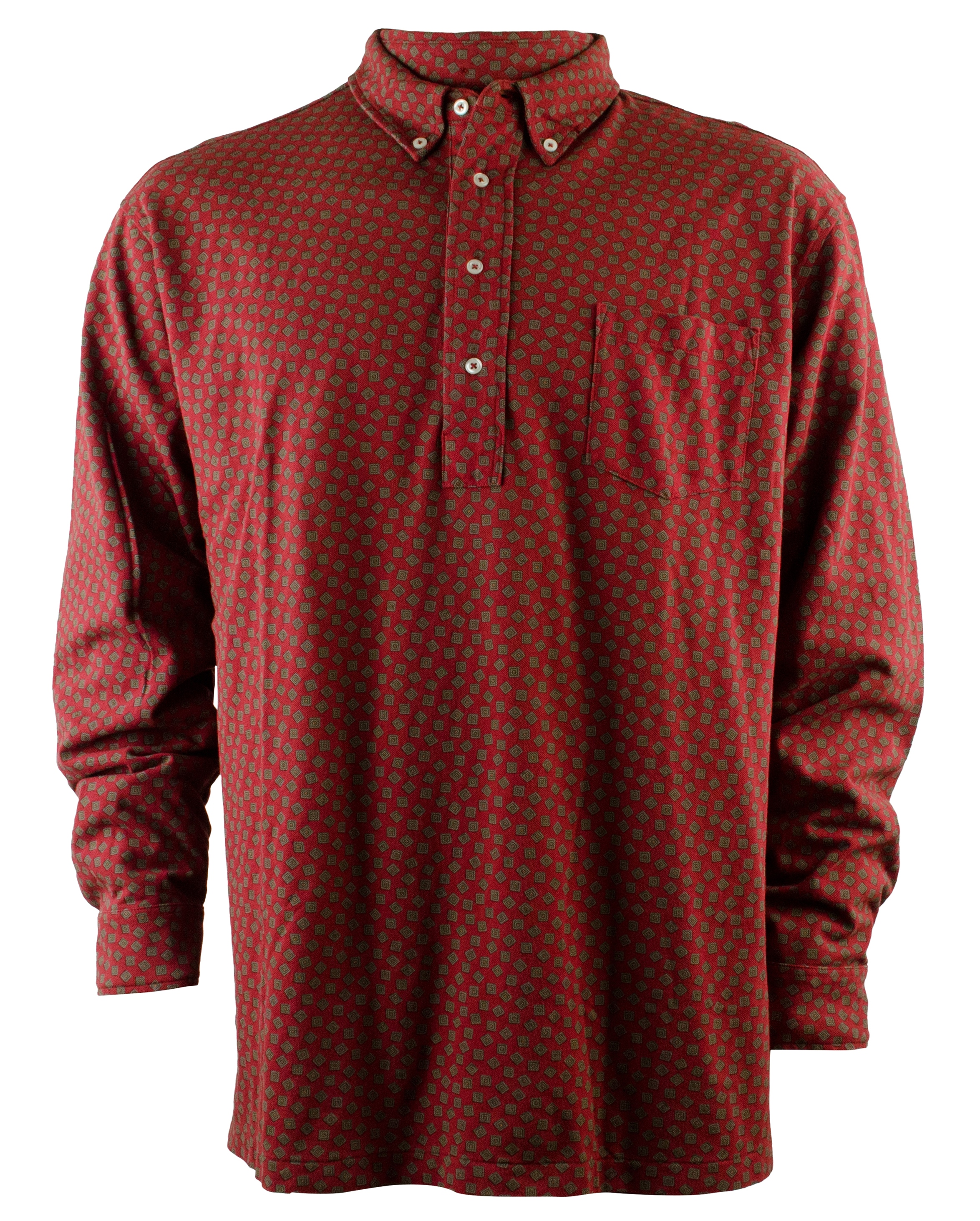 Polo ralph lauren men 39 s big and tall printed popover shirt for Xlt long sleeve polo shirts