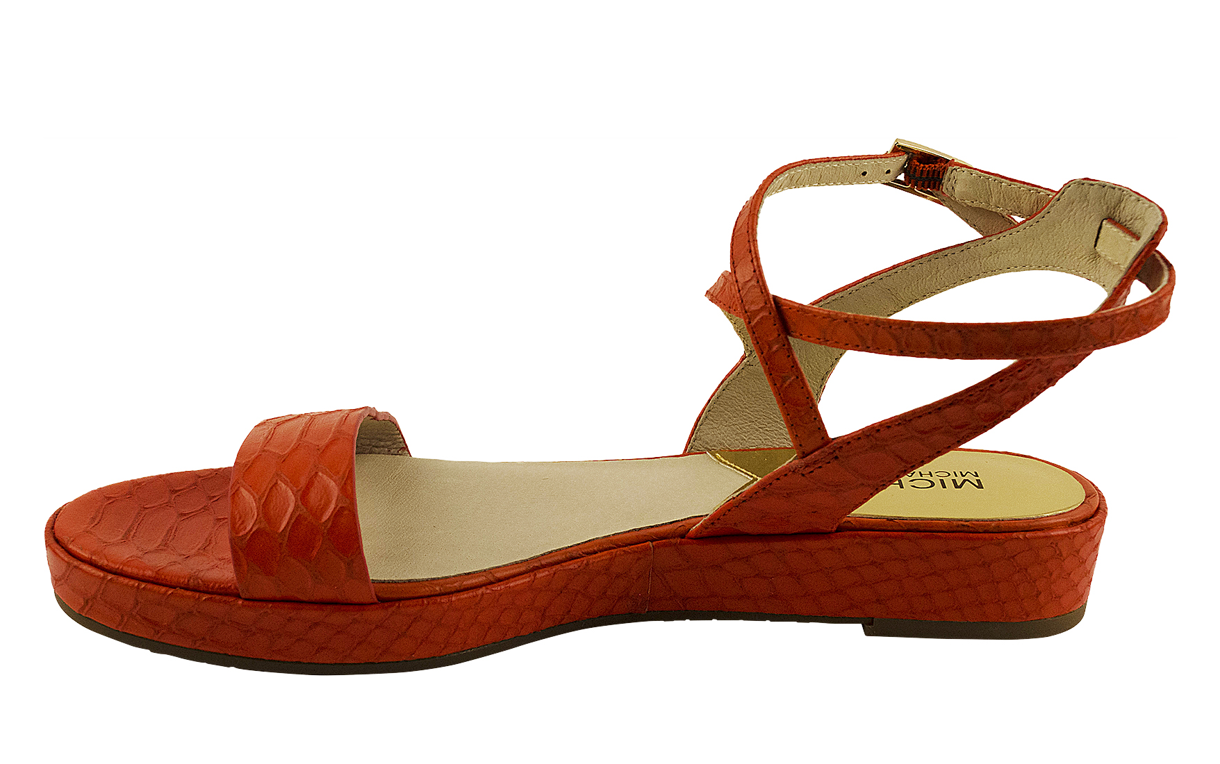 Lastest  Michael Kors Michael Kors Mavis Back Zip Women Leather Silver Sandals