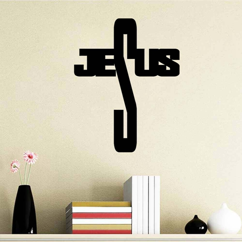 Wall Decor Jesus : Christian jesus cross diy home decor vinyl wall sticker
