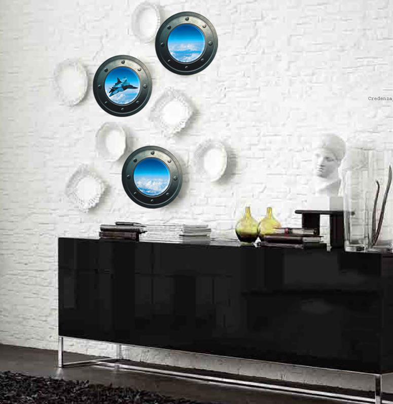 Peel Wall Light Diy : Ocean View Porthole Wall Decal Sea Cruise Wall DIY Room Decor Peel Sticker mural eBay