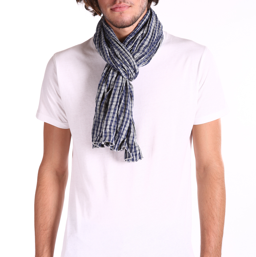 New Mens Scarfs genuine long classic fashion cotton neck ...