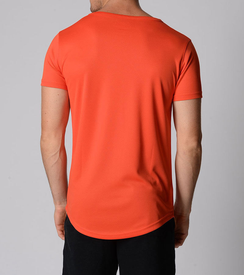 Mens poly training top dry fit performance running gym for Dry fit custom t shirts