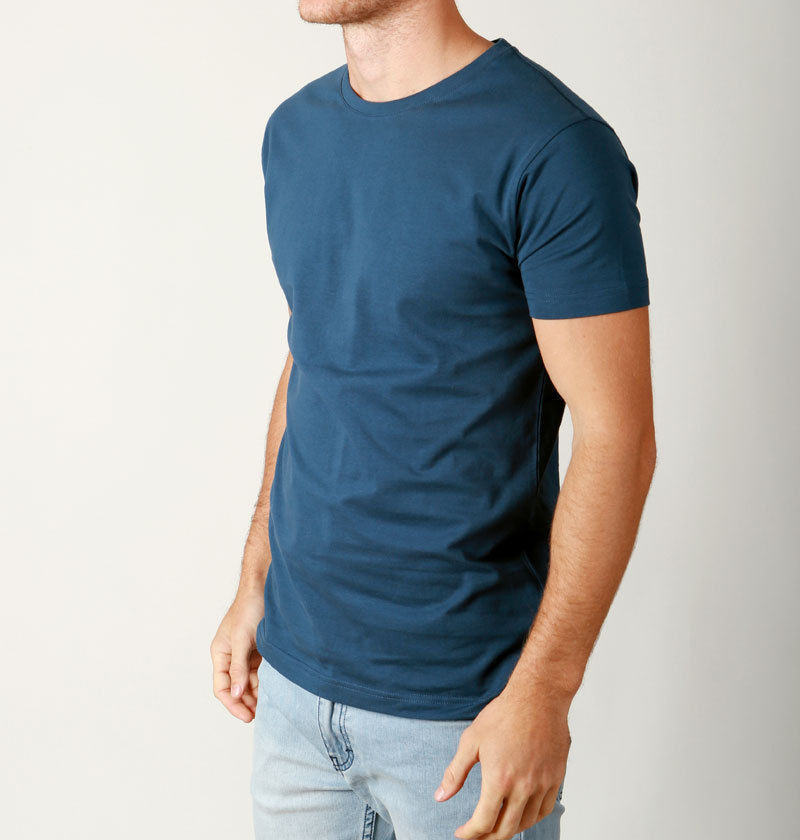 New-Mens-Basic-CREW-neck-Tees-cotton-Plain-t-shirts-Casual-Slim-Fit-tee-premiums