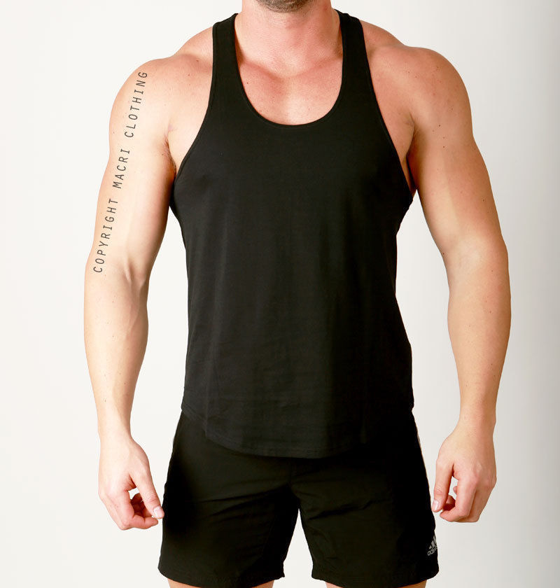 Gym Muscle Bodybuilding Black Mesh Fitness Power Lifting: Mens Gym Training RACERBACK Lifting Singlet Weight