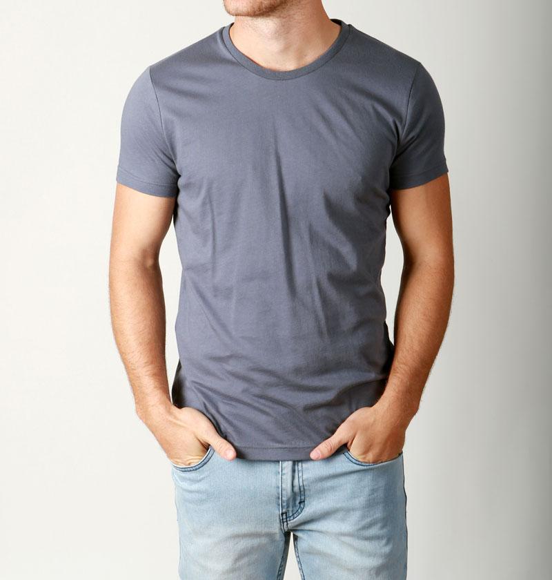 Premium mens basic crew neck tees cotton plain t shirts for Premium plain t shirts