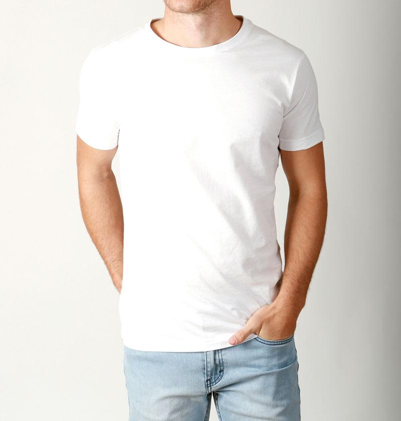 New mens basic crew neck t shirt slim fit cotton premium for Slim fit white t shirt