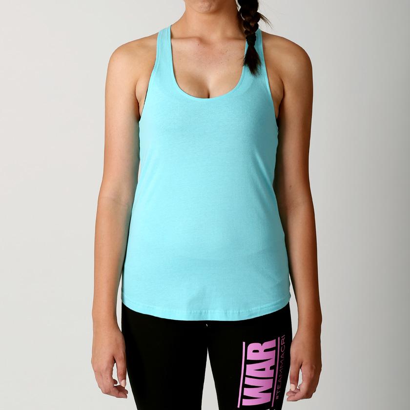 new macri women gym yoga racer t back tank top singlet sport size 6 18 xs xl ebay. Black Bedroom Furniture Sets. Home Design Ideas