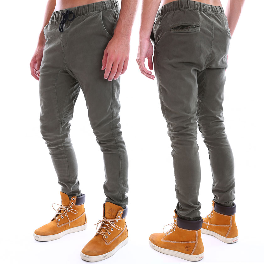 New Mens St Goliath Cargo pants Deep Crotch Khaki Cargo Skinny ...