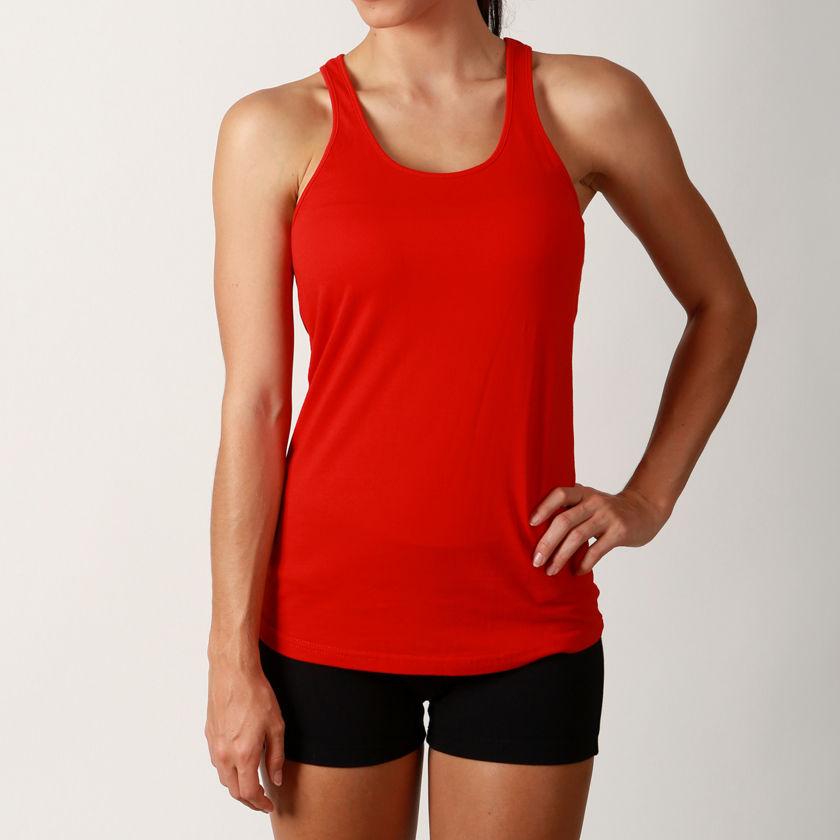 New Ladies Workout Cotton Sports Racerback Tank Tee Womens ...