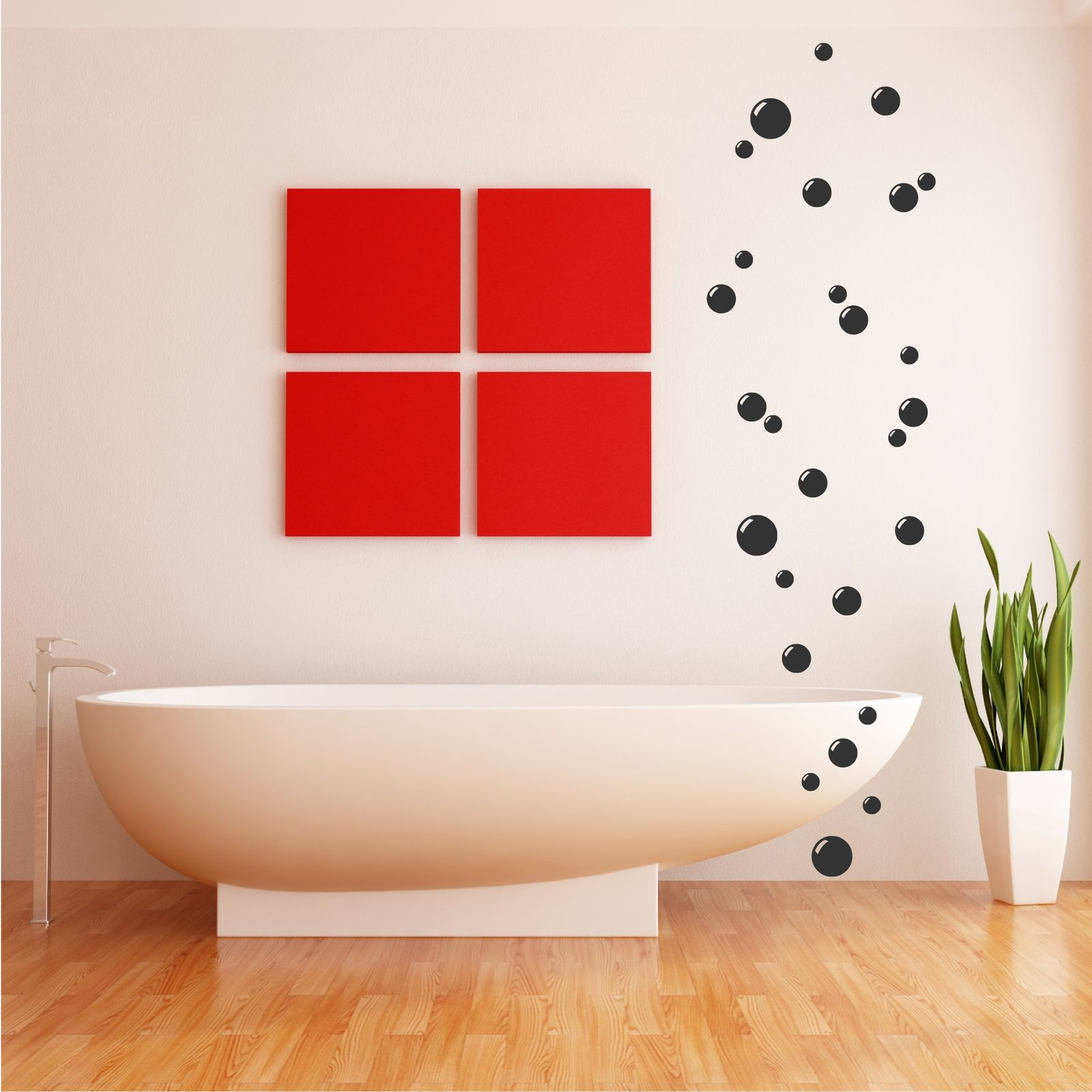 Bathroom vinyl wall art