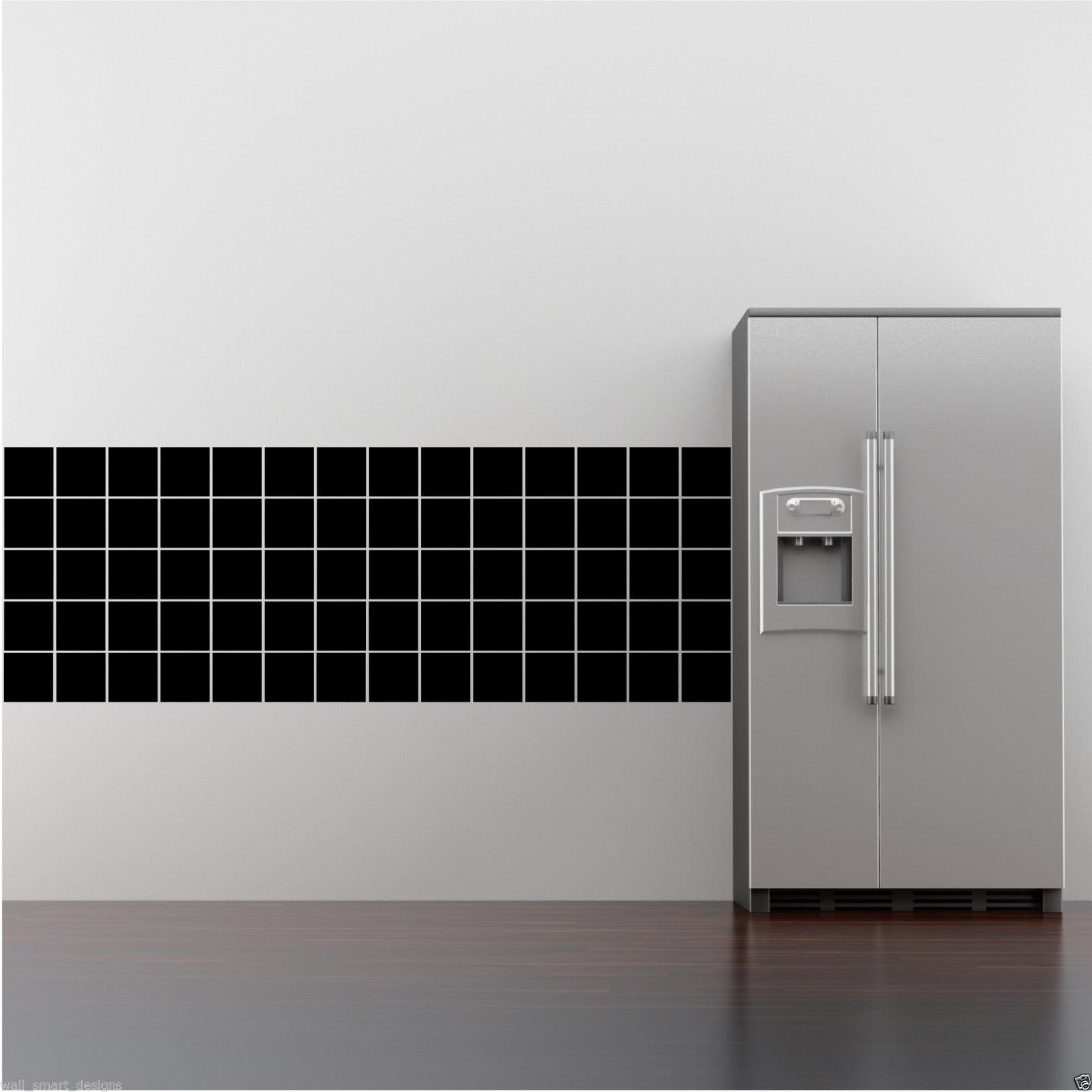 30 WALL ART TILE STICKERS FAKE BATHROOM KITCHEN