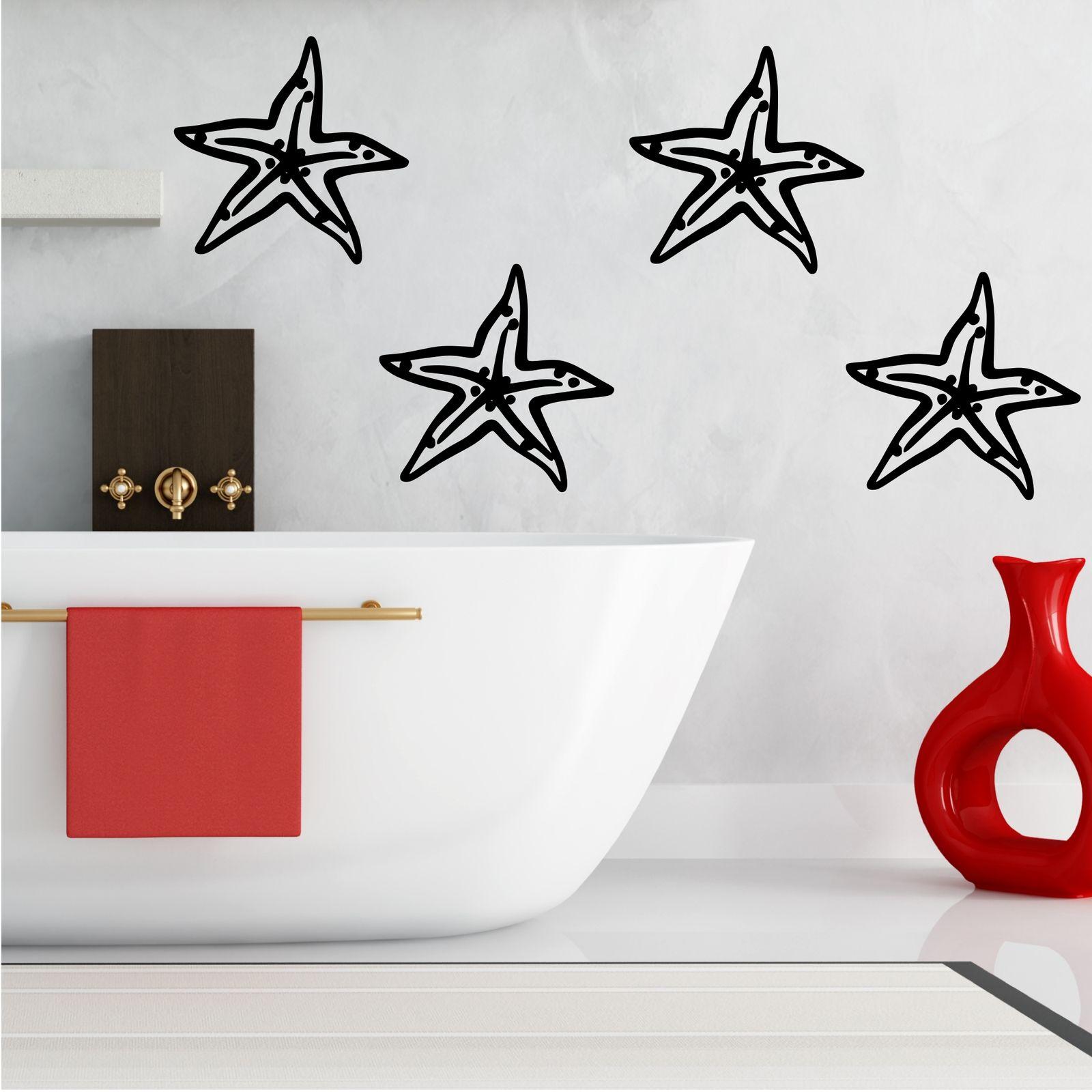 Wall Sticker Bathroom 4 Starfish Luxury Wall Sticker Bathroom Decal Transfer Mural