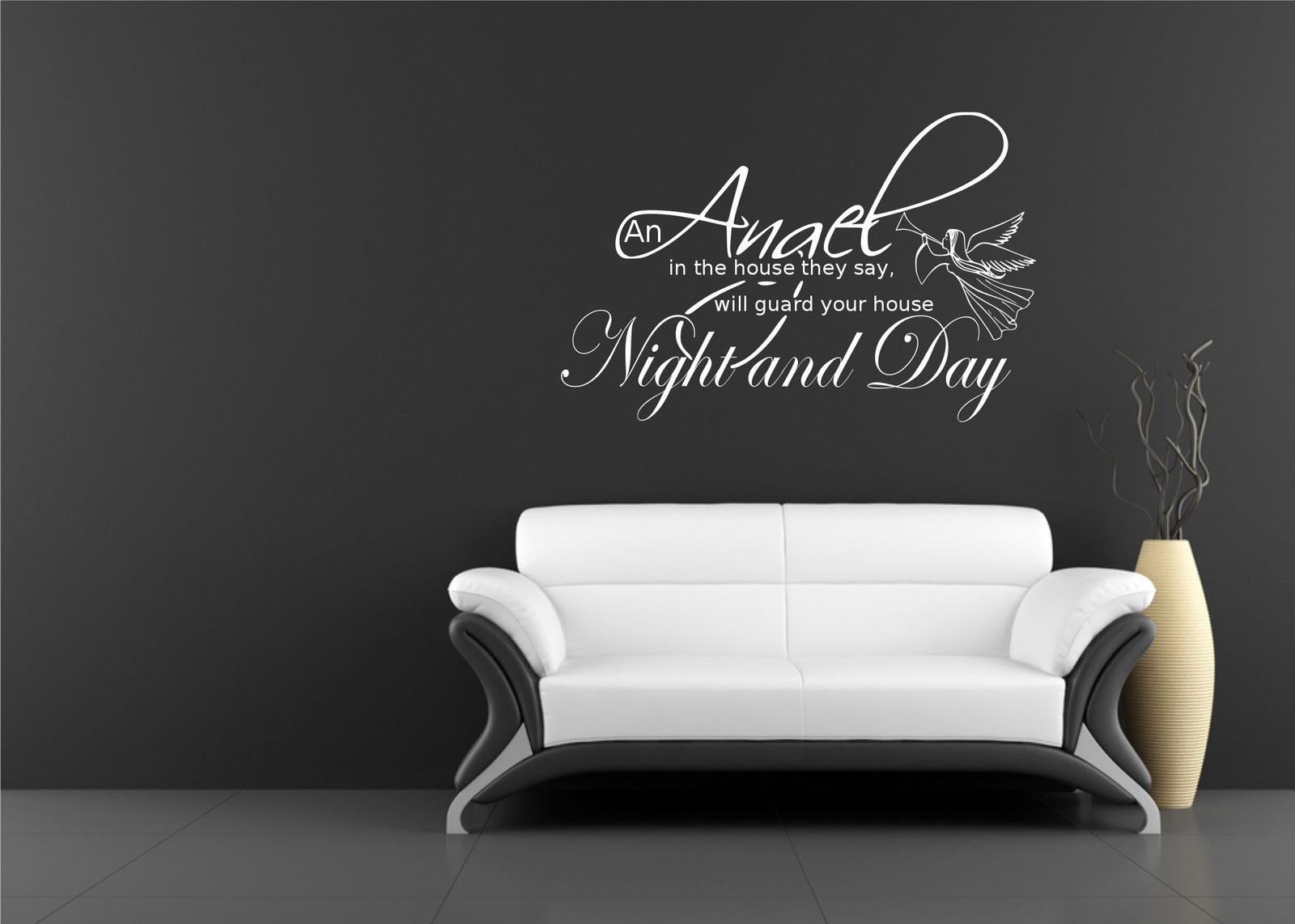 art wall stickers shenra com angel night home quote art wall sticker decal mural stencil vinyl