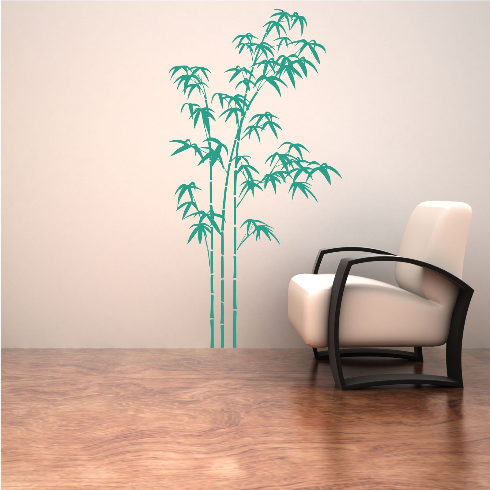 Bamboo tree grass wild jungle wall sticker decal stencil for Pochoir mural geant