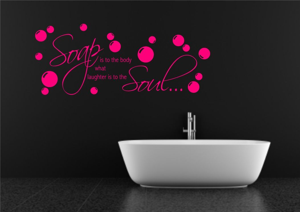bathroom wall quote soap body wall sticker decal transfer mural,