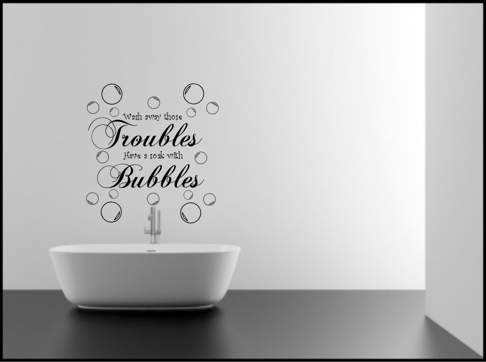 Bathroom Wall Sticker Bubbles Quote Decorative Mural Decal Vinyl Sticker Ebay