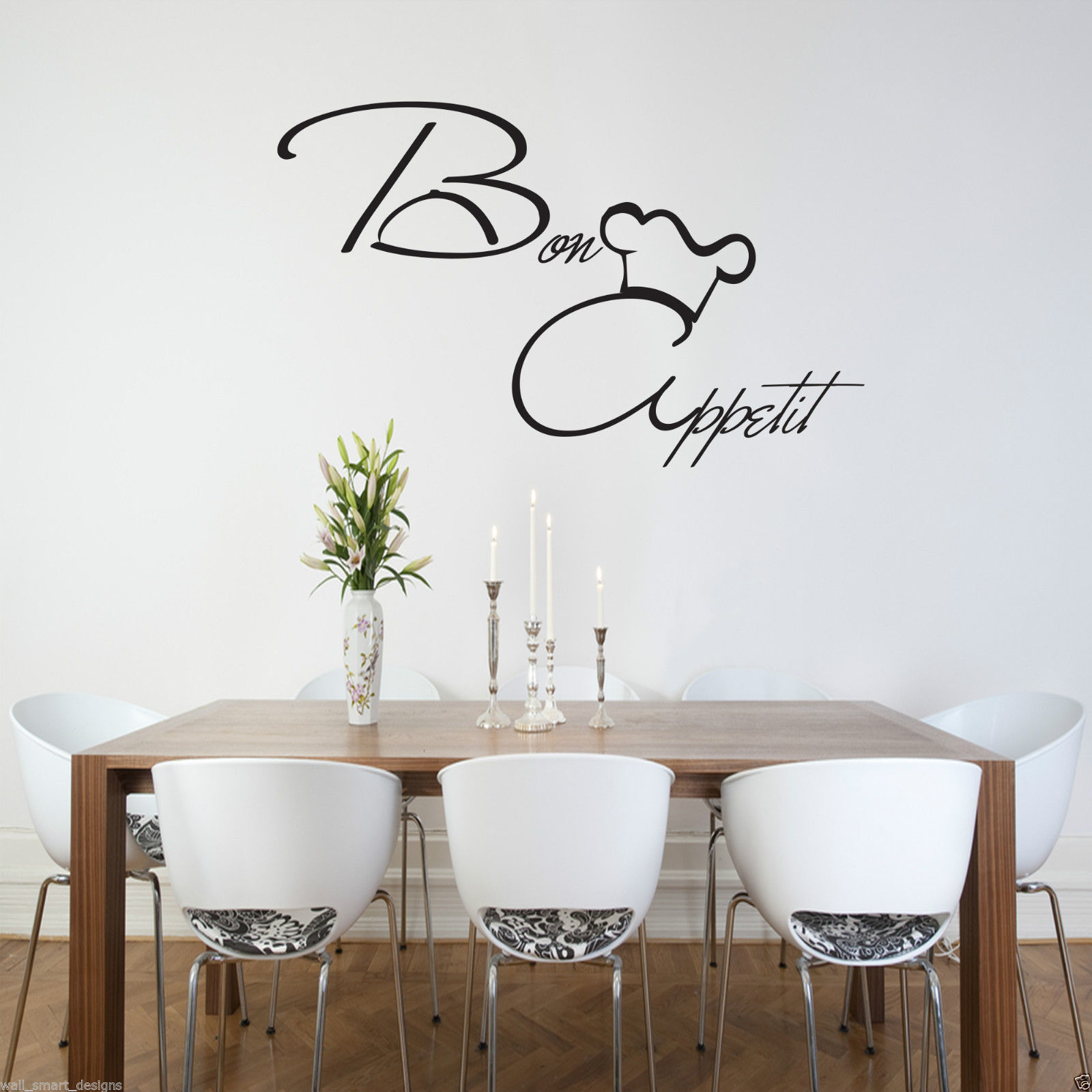 Bon Appetit Wall Art Sticker KItchen Vinyl Quote Decal