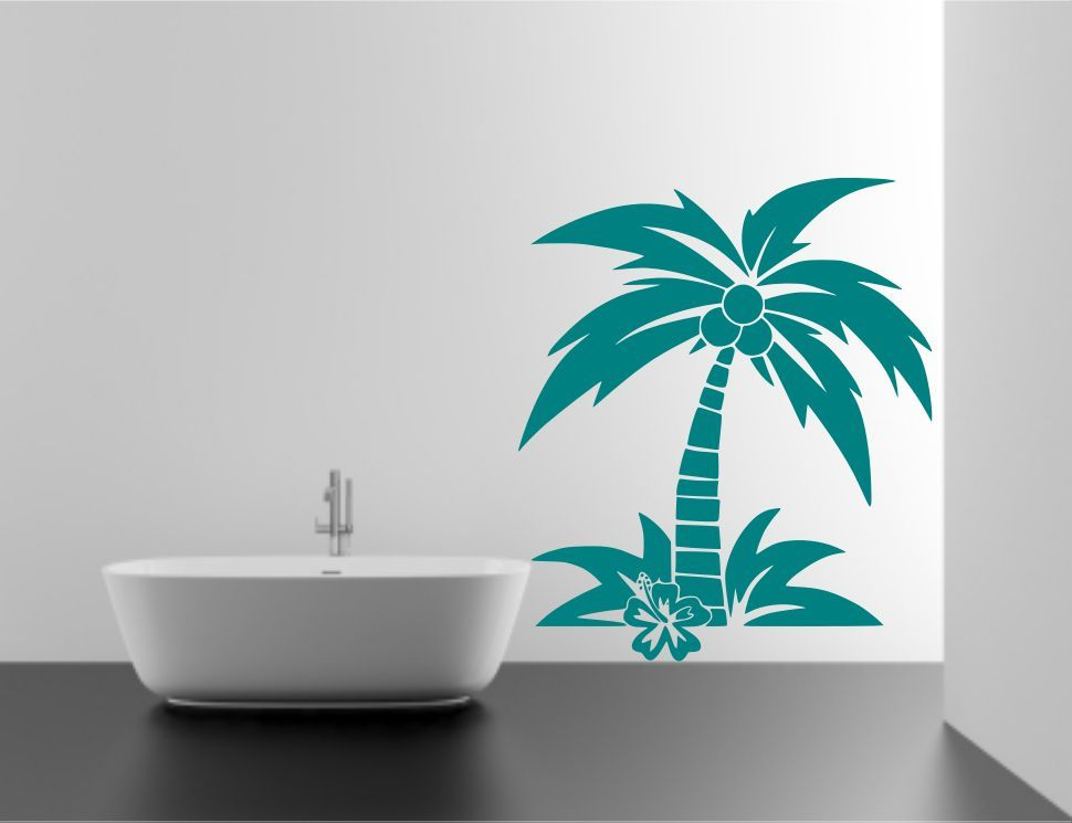 Coconut Palm Tree Wall Sticker Decal Mural Transfer