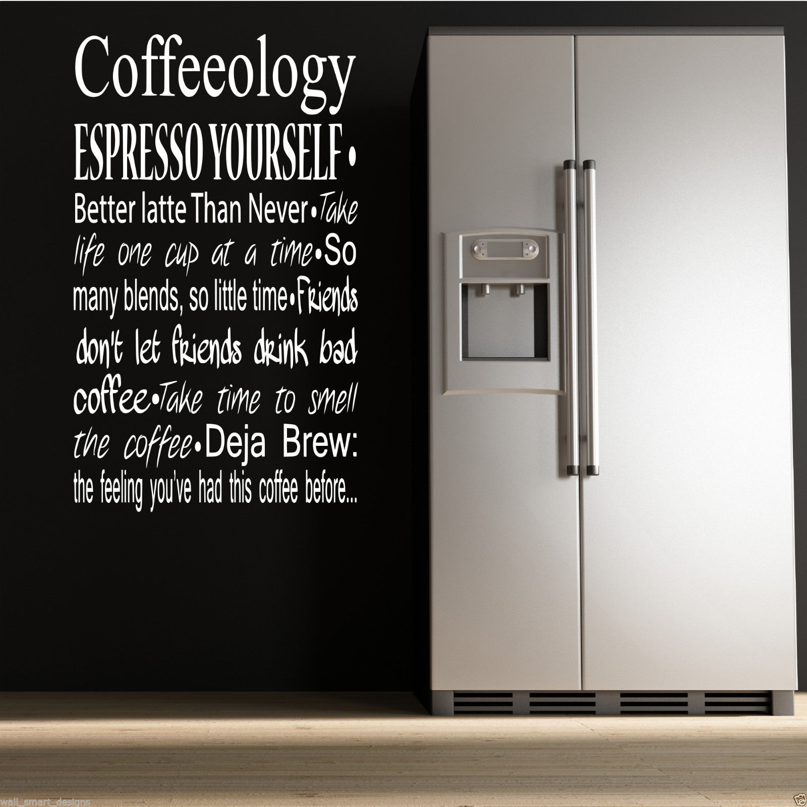 Wall art kitchen quotes - Coffee Coffeeology Kitchen Wall Art Sticker Quote Decal