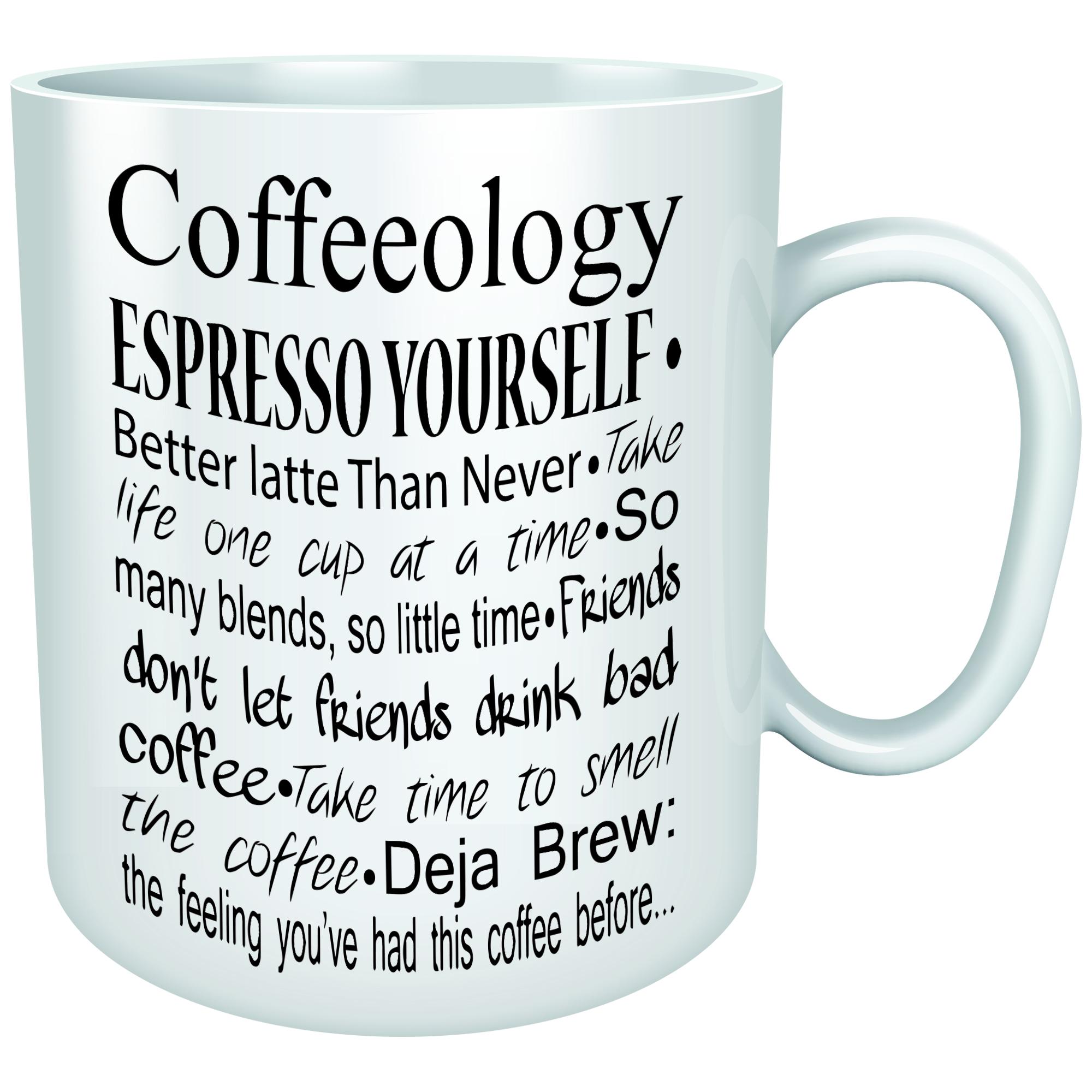 becher coffeeology bedruckt kÜche arbeit tasse lustig kaffee ... - Küche Arbeit