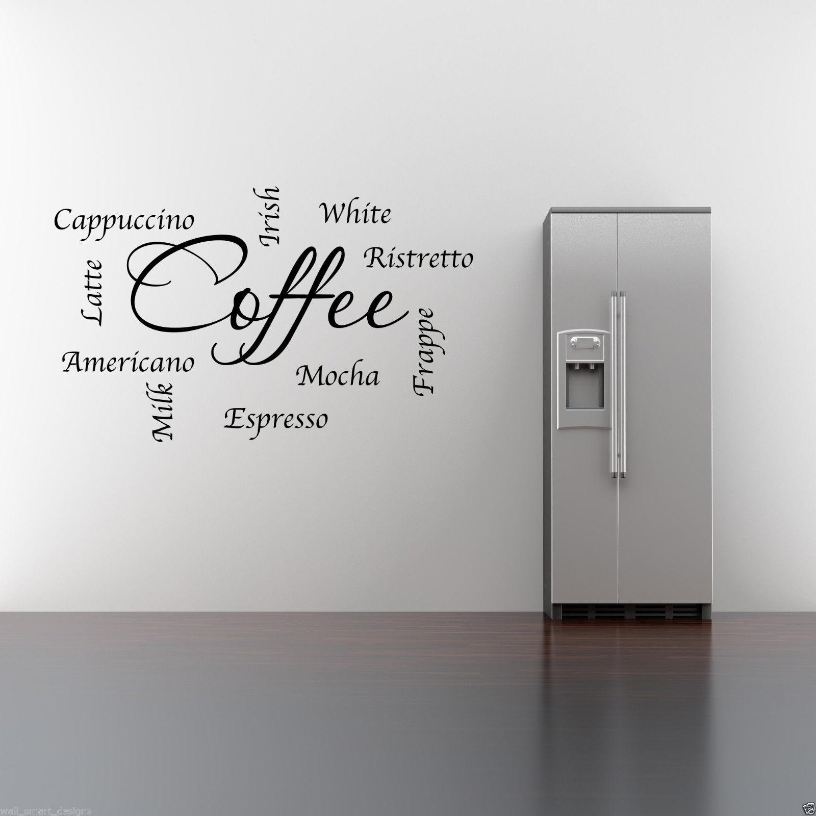 miniatura 6 - Caffe-Parole-Frasi-Cucina-Wall-Art-Sticker-Salotto-Citazione-Decalcomania-Murale-WSD403