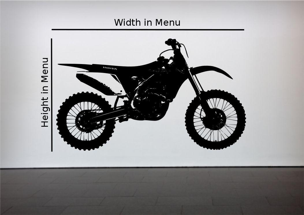 Crosser Motocross Bike Wall Sticker Bedroom Stencil ...