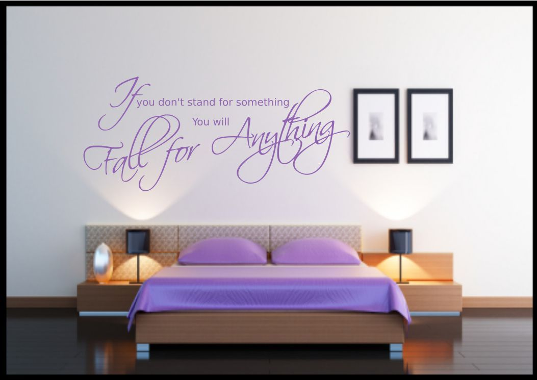 Fall for anything quote wall sticker bedroom room decal for Bedroom furniture quotes