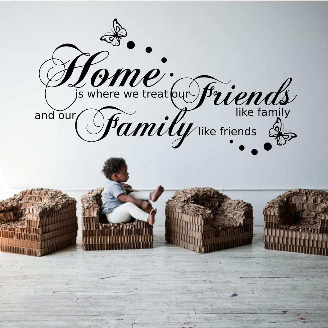 Family Friends Wall Decor : Family friends home quote wall art sticker transfer decal