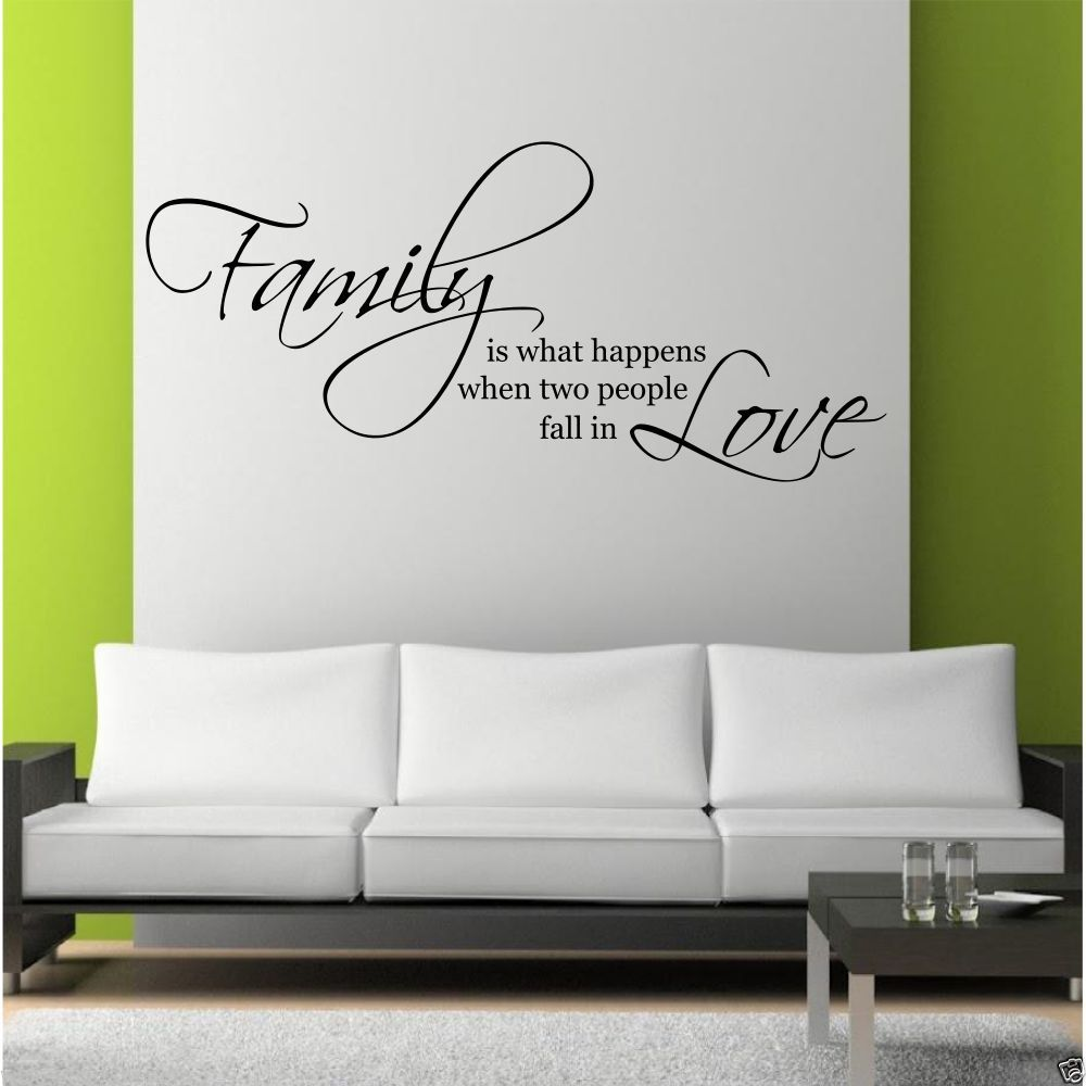 Family Love Wall Art Sticker Quote Living Room Decal Mural Stencil ...