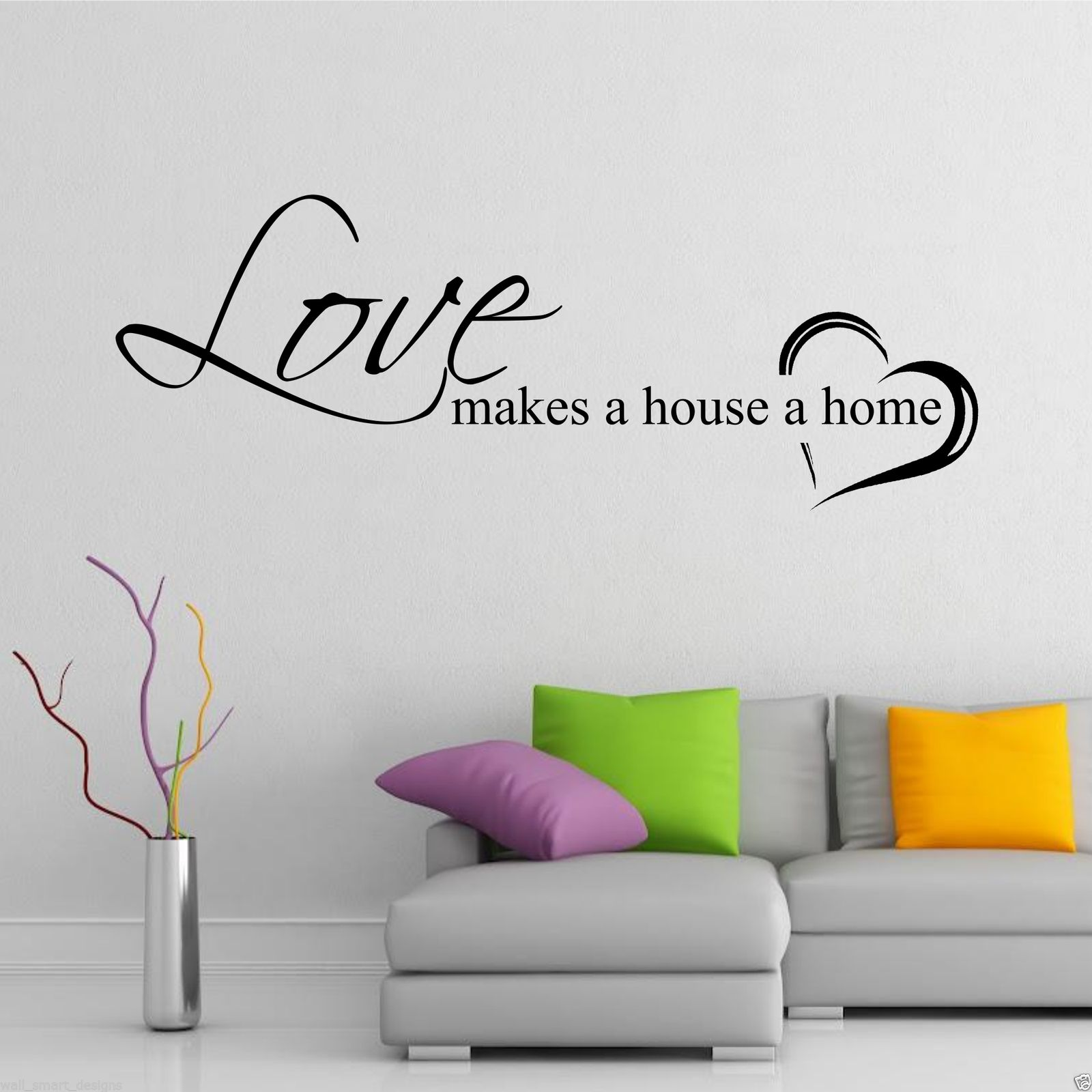 Home love family wall art sticker quote decal mural transfer home love family wall art sticker quote decal amipublicfo Gallery