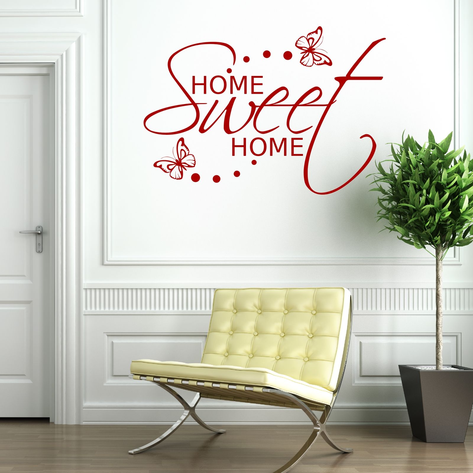 home sweet home wall sticker art room gift decal mural transfer sticker wsd493 ebay. Black Bedroom Furniture Sets. Home Design Ideas