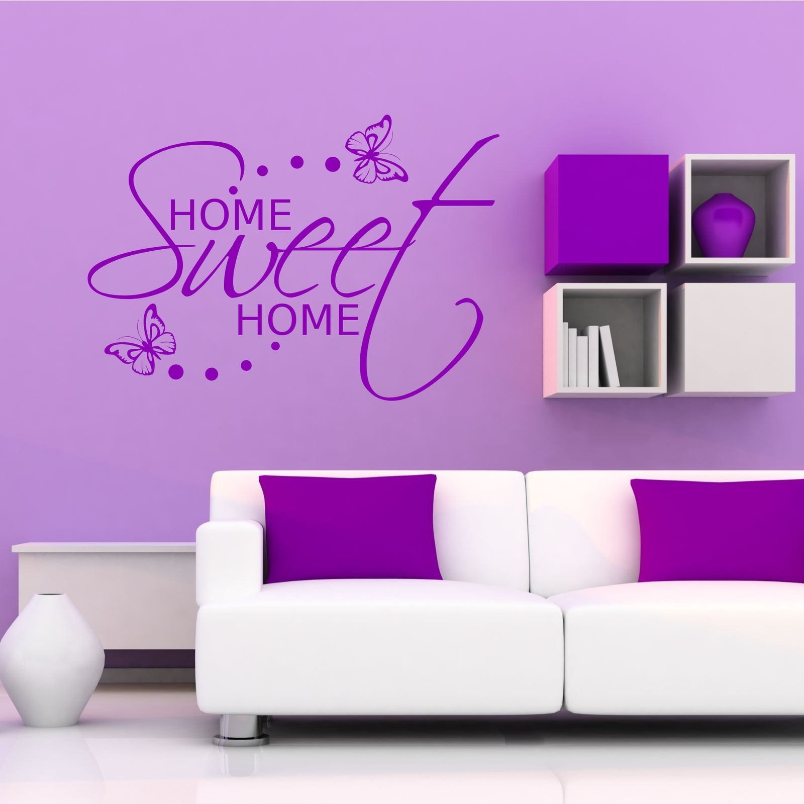 Wall stickers home sweet home - Home Sweet Home Wall Sticker Art Room Gift